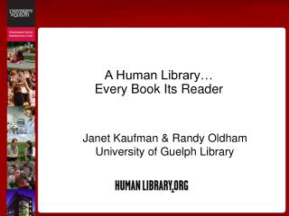 A Human Library… Every Book Its Reader