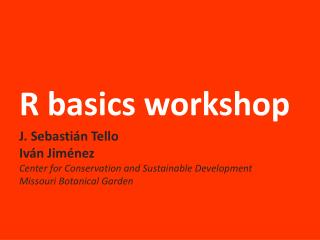 R basics workshop