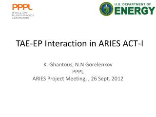 TAE-EP Interaction in ARIES ACT-I