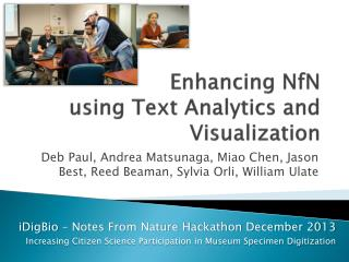 Enhancing  NfN using Text Analytics and Visualization