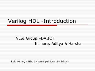 Verilog HDL -Introduction
