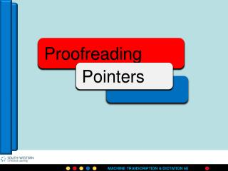 Proofreading means
