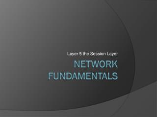Network Fundamentals