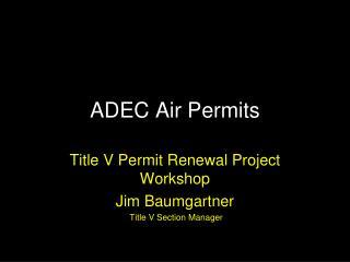 ADEC Air Permits