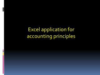 Excel application for accounting principles