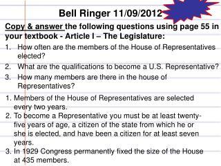 Bell Ringer  11/09/2012