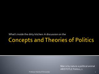 Concepts and Theories of Politics