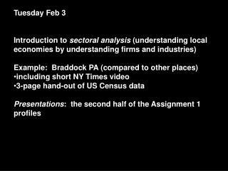 Tuesday Feb 3
