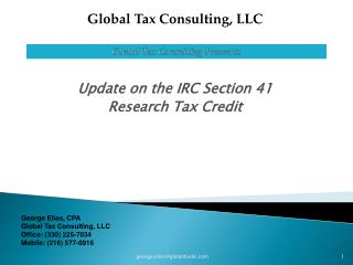 Global Tax Consulting Presents: