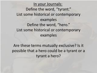 hero tyrant bell ringer