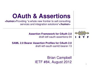 OAuth & Assertions