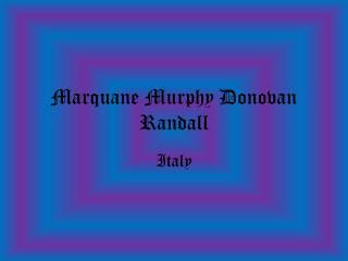Marquane Murphy Donovan Randall