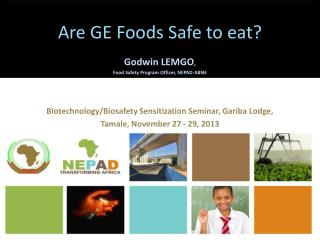Are GE Foods Safe to eat?