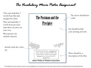 The Postman and the  Precipice