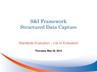 S&I Framework Structured Data Capture