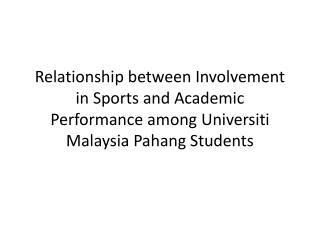 Background of study