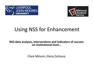 Using NSS for Enhancement