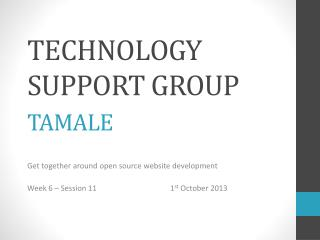 Technology support group  tamale