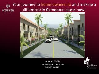 Your journey to  home ownership  and making a difference in Cameroon starts now!