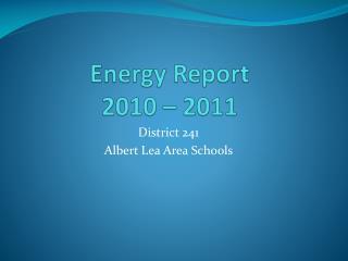 Energy Report 2010 � 2011