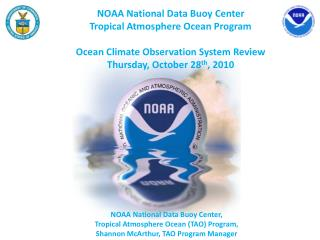 NOAA National Data Buoy Center  Tropical  Atmosphere Ocean  Program