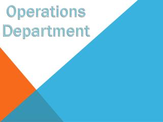 Operations D epartment