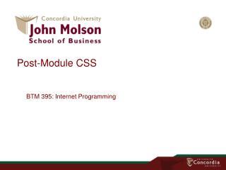 Post-Module  CSS