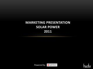 Marketing Presentation Solar power 2011
