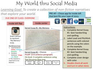 My World thru Social Media