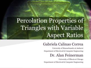 Percolation Properties of  Triangles with Variable Aspect Ratios