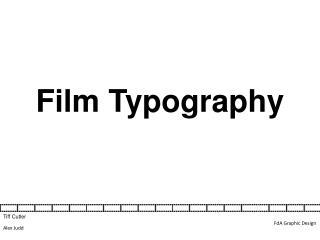 Film Typography