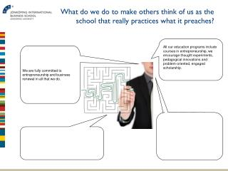 What do we do to make others think of us as the school that really  practices  what  it preaches?