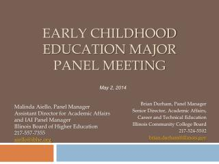 Early Childhood Education Major Panel Meeting