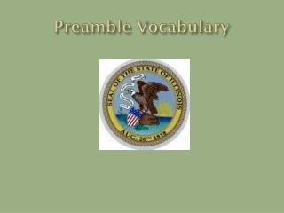 Preamble Vocabulary