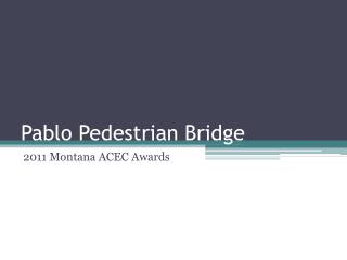 Pablo Pedestrian Bridge