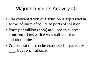 Major Concepts Activity 40