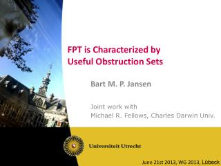 FPT is Characterized by Useful Obstruction Sets