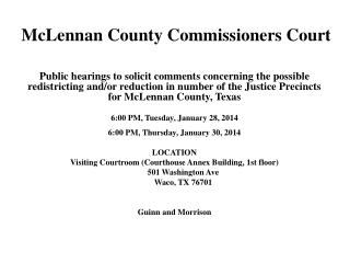 McLennan County Commissioners Court