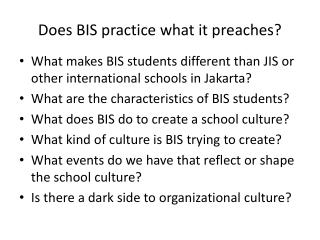 Does BIS practice what it preaches?
