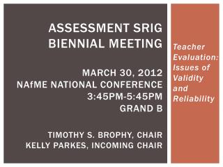 Teacher Evaluation: Issues of Validity and Reliability
