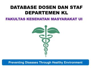 DATABASE DOSEN DAN STAF DEPARTEMEN KL