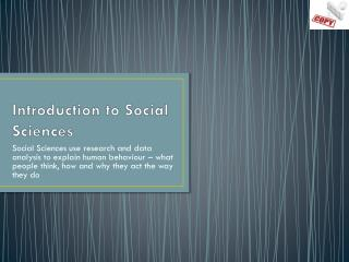 Introduction to Social Sciences