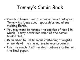 Tommy's Comic Book