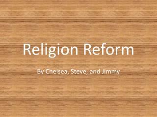 Religion Reform