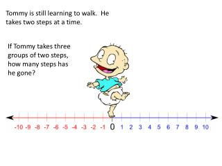 Tommy is still learning to walk.  He takes two steps at a time.