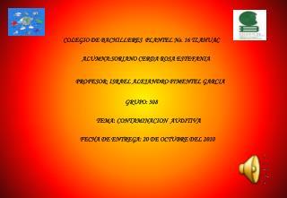 COLEGIO DE BACHILLERES  PLANTEL No. 16 TLAHUAC