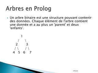 Arbres en Prolog