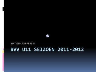 BVV U11 Seizoen 2011-2012