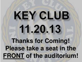 Key Club 11.20.13