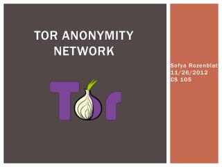 TOR Anonymity Network